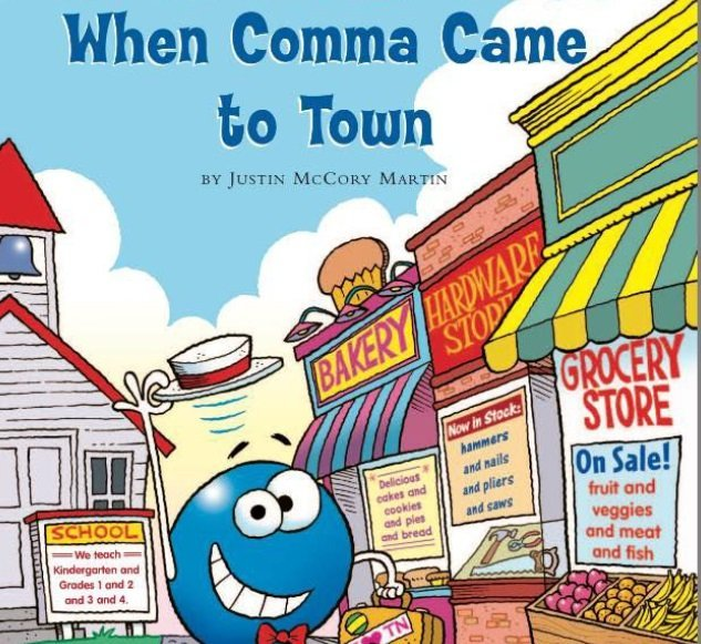 اساسيات اللغة الانجليزية-Punctuation-comma-قصص الجرامر