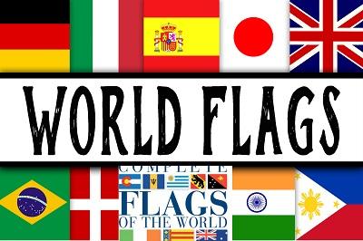 أعلام دول العالم مع الاسم