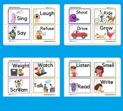 افعال بالانجليزي للاطفال